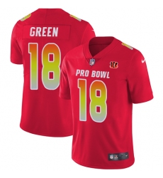 Women's Nike Cincinnati Bengals #18 A.J. Green Limited Red 2018 Pro Bowl NFL Jersey