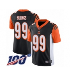 Men's Cincinnati Bengals #99 Andrew Billings Black Team Color Vapor Untouchable Limited Player 100th Season Football Jersey