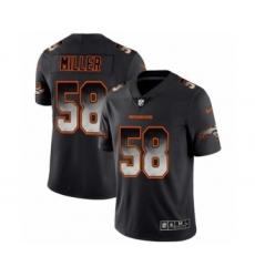 Men Denver Broncos #58 Von Miller Black Smoke Fashion Limited Jersey