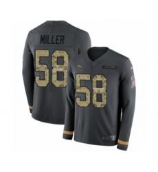 Men's Nike Denver Broncos #58 Von Miller Limited Black Salute to Service Therma Long Sleeve NFL Jersey