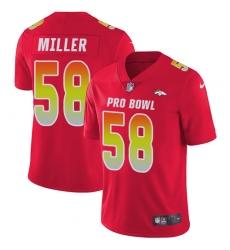 Men's Nike Denver Broncos #58 Von Miller Limited Red 2018 Pro Bowl NFL Jersey
