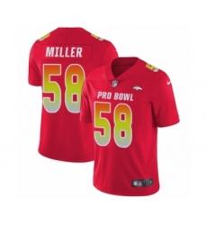 Men's Nike Denver Broncos #58 Von Miller Limited Red AFC 2019 Pro Bowl NFL Jersey