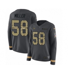 Women's Nike Denver Broncos #58 Von Miller Limited Black Salute to Service Therma Long Sleeve NFL Jersey
