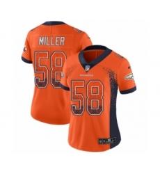 Women's Nike Denver Broncos #58 Von Miller Limited Orange Rush Drift Fashion NFL Jersey