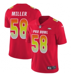 Women's Nike Denver Broncos #58 Von Miller Limited Red 2018 Pro Bowl NFL Jersey