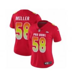 Women's Nike Denver Broncos #58 Von Miller Limited Red AFC 2019 Pro Bowl NFL Jersey