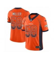 Youth Nike Denver Broncos #58 Von Miller Limited Orange Rush Drift Fashion NFL Jersey