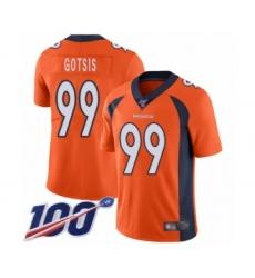 Men's Denver Broncos #99 Adam Gotsis Orange Team Color Vapor Untouchable Limited Player 100th Season Football Jersey