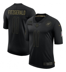 Men's Arizona Cardinals #11 Larry Fitzgerald Black Nike 2020 Salute To Service Limited Jersey