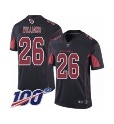 Men's Arizona Cardinals #26 Brandon Williams Limited Black Rush Vapor Untouchable 100th Season Football Jersey