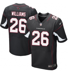 Men's Nike Arizona Cardinals #26 Brandon Williams Elite Black Alternate NFL Jersey