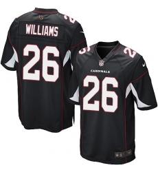 Men's Nike Arizona Cardinals #26 Brandon Williams Game Black Alternate NFL Jersey