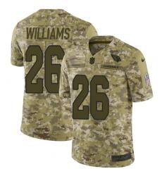 Men's Nike Arizona Cardinals #26 Brandon Williams Limited Camo 2018 Salute to Service NFL Jersey
