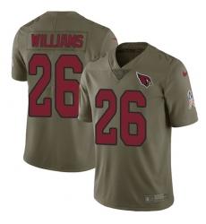 Men's Nike Arizona Cardinals #26 Brandon Williams Limited Olive 2017 Salute to Service NFL Jersey