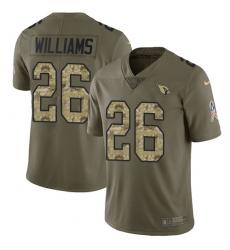 Men's Nike Arizona Cardinals #26 Brandon Williams Limited Olive/Camo 2017 Salute to Service NFL Jersey
