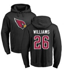 NFL Nike Arizona Cardinals #26 Brandon Williams Black Name & Number Logo Pullover Hoodie