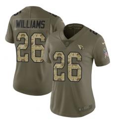 Women's Nike Arizona Cardinals #26 Brandon Williams Limited Olive/Camo 2017 Salute to Service NFL Jersey