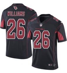 Youth Nike Arizona Cardinals #26 Brandon Williams Limited Black Rush Vapor Untouchable NFL Jersey