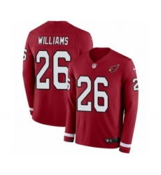 Youth Nike Arizona Cardinals #26 Brandon Williams Limited Red Therma Long Sleeve NFL Jersey