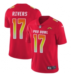 Youth Nike Los Angeles Chargers #17 Philip Rivers Limited Red 2018 Pro Bowl NFL Jersey