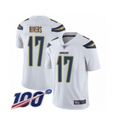 Youth Nike Los Angeles Chargers #17 Philip Rivers White Vapor Untouchable Limited Player 100th Season NFL Jersey
