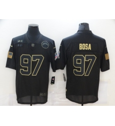 Men's Los Angeles Chargers #97 Joey Bosa Black Nike 2020 Salute To Service Limited Jersey