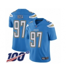 Youth Nike Los Angeles Chargers #97 Joey Bosa Electric Blue Alternate Vapor Untouchable Limited Player 100th Season NFL Jersey