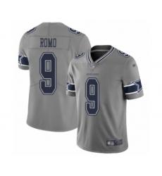 Youth Dallas Cowboys #9 Tony Romo Limited Gray Inverted Legend Football Jersey