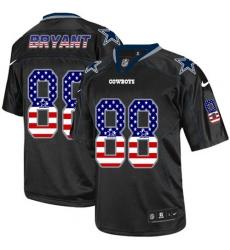 Men's Nike Dallas Cowboys #88 Dez Bryant Elite Black USA Flag Fashion NFL Jersey