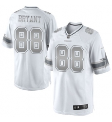 Women's Nike Dallas Cowboys #88 Dez Bryant Limited White Platinum NFL Jersey