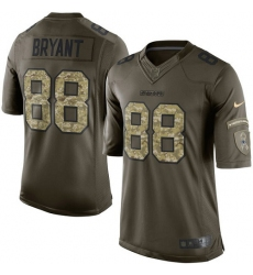 Youth Nike Dallas Cowboys #88 Dez Bryant Elite Green Salute to Service NFL Jersey