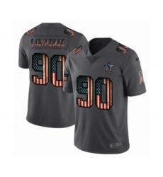 Men's Dallas Cowboys #90 DeMarcus Lawrence Limited Black USA Flag 2019 Salute To Service Football Jersey