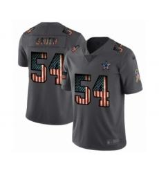 Men's Dallas Cowboys #54 Jaylon Smith Limited Black USA Flag 2019 Salute To Service Football Jersey