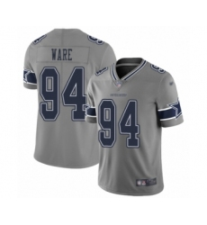 Men's Dallas Cowboys #94 DeMarcus Ware Limited Gray Inverted Legend Football Jersey