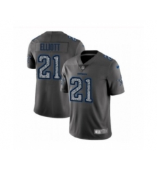Men's Dallas Cowboys #21 Ezekiel Elliott Limited Gray Static Fashion Limited Football Jerseys