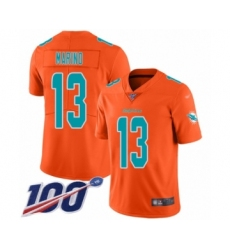 Youth Nike Miami Dolphins #13 Dan Marino Limited Orange Inverted Legend 100th Season NFL Jersey