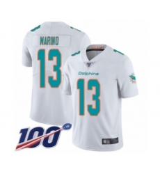 Youth Nike Miami Dolphins #13 Dan Marino White Vapor Untouchable Limited Player 100th Season NFL Jersey