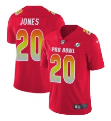Women's Nike Miami Dolphins #20 Reshad Jones Limited Red 2018 Pro Bowl NFL Jersey