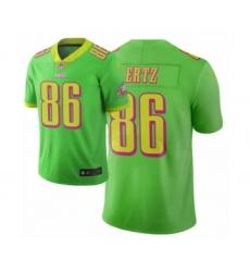 Men Philadelphia Eagles #86 Zach Ertz Green Vapor Limited City Edition Jersey