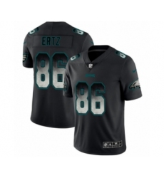 Men's Philadelphia Eagles #86 Zach Ertz Black Smoke Fashion Limited Jersey
