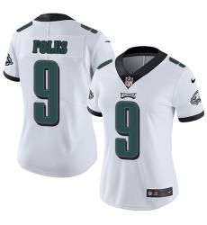 Women's Nike Philadelphia Eagles #9 Nick Foles White Vapor Untouchable Limited Player NFL Jersey