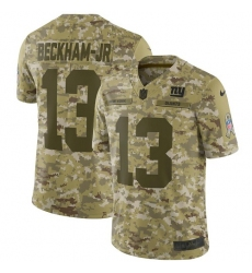 Youth Nike New York Giants #13 Odell Beckham Jr Limited Camo 2018 Salute to Service NFL Jersey