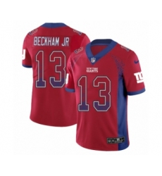 Youth Nike New York Giants #13 Odell Beckham Jr Limited Red Rush Drift Fashion NFL Jersey