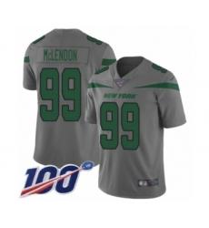 Men's New York Jets #99 Steve McLendon Limited Gray Inverted Legend 100th Season Football Jersey
