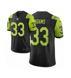 Men New York Jets #33 Jamal Adams Black Green City Edition Vapor Limited Jersey