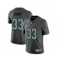 Men's New York Jets #33 Jamal Adams Limited Gray Static Fashion Football Jersey