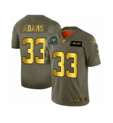 Men's New York Jets #33 Jamal Adams Limited Olive Gold 2019 Salute to Service Football Jersey