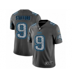 Men's Detroit Lions #9 Matthew Stafford Limited Gray Static Fashion Limited Football Jersey