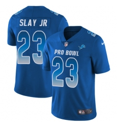 Youth Nike Detroit Lions #23 Darius Slay Limited Royal Blue 2018 Pro Bowl NFL Jersey