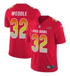 Men's Nike Baltimore Ravens #32 Eric Weddle Limited Red 2018 Pro Bowl NFL Jersey